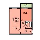 Планировки однокомнатных квартир в домах серии и-155-н.