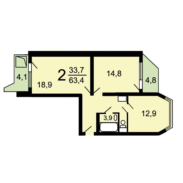 Варианты перепланировок квартир серии П44Т | 700x700